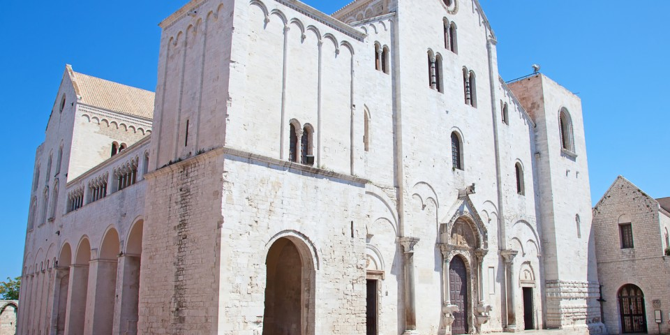 Famous Saint Nicholas church in Bari, Italy
